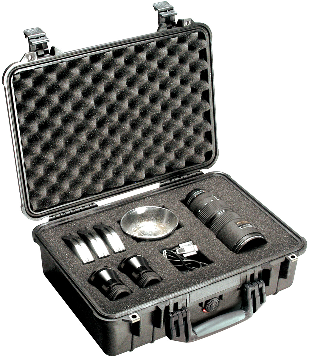 pelican 1500 watertight lens photographer case