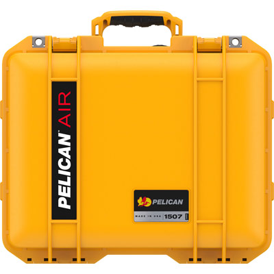 pelican yellow 1507 travel case carry on