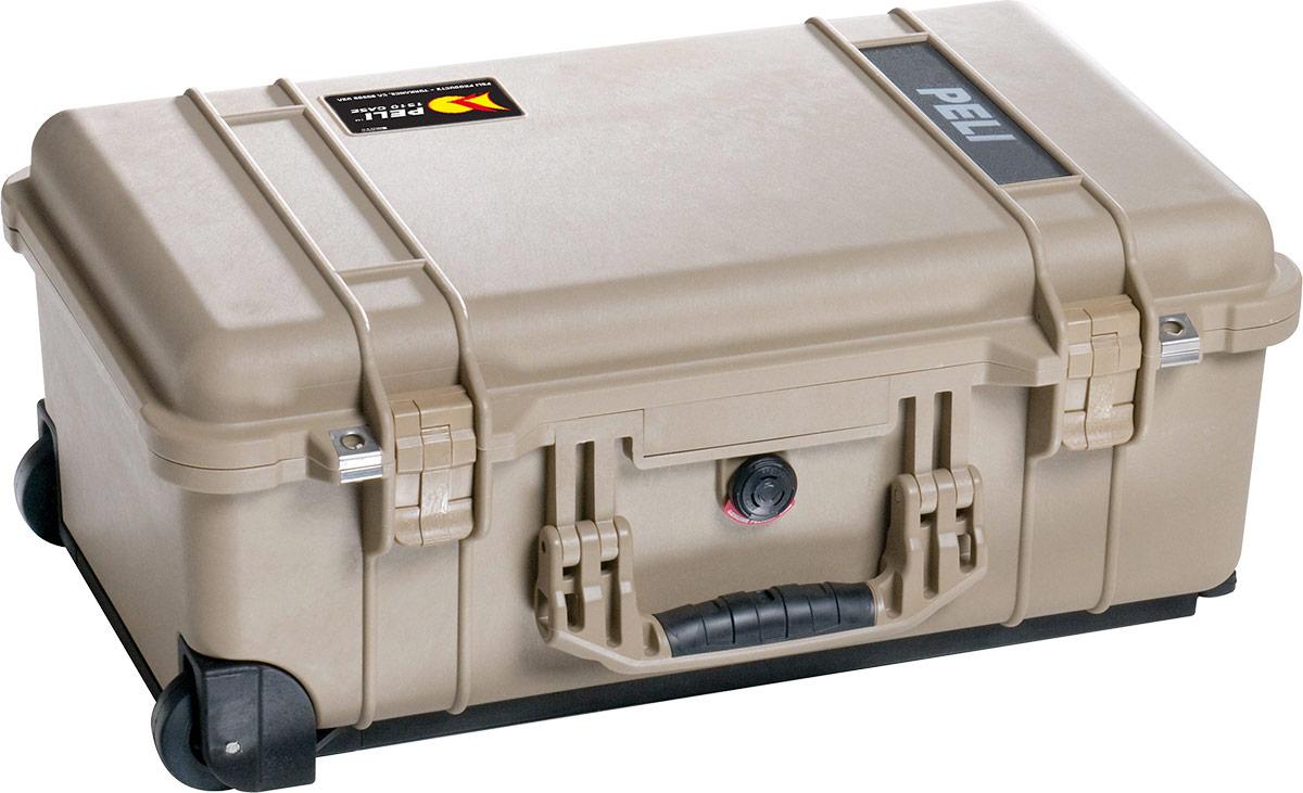 peli 1510 desert tan watertight carry on case