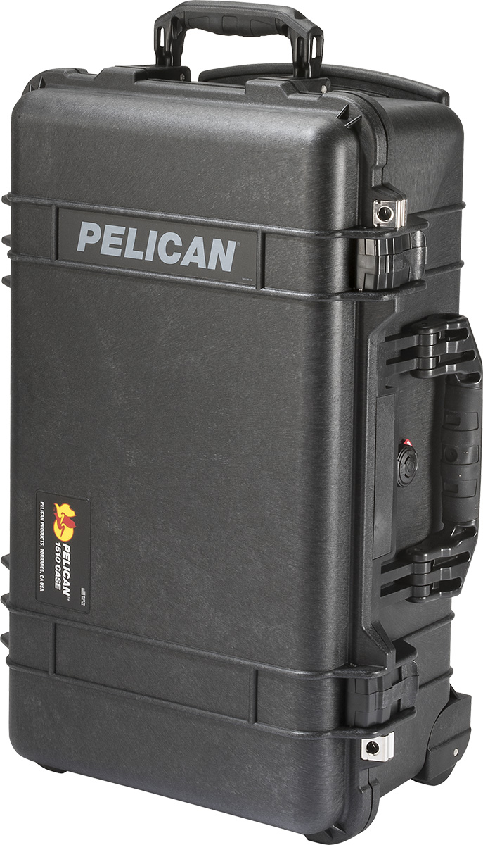 pelican 1510 black hard case rolling cases