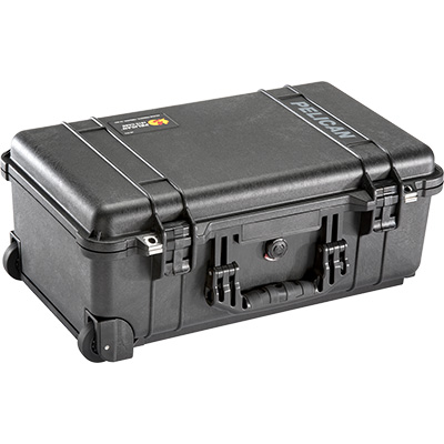 pelican hard rolling travel carry on case