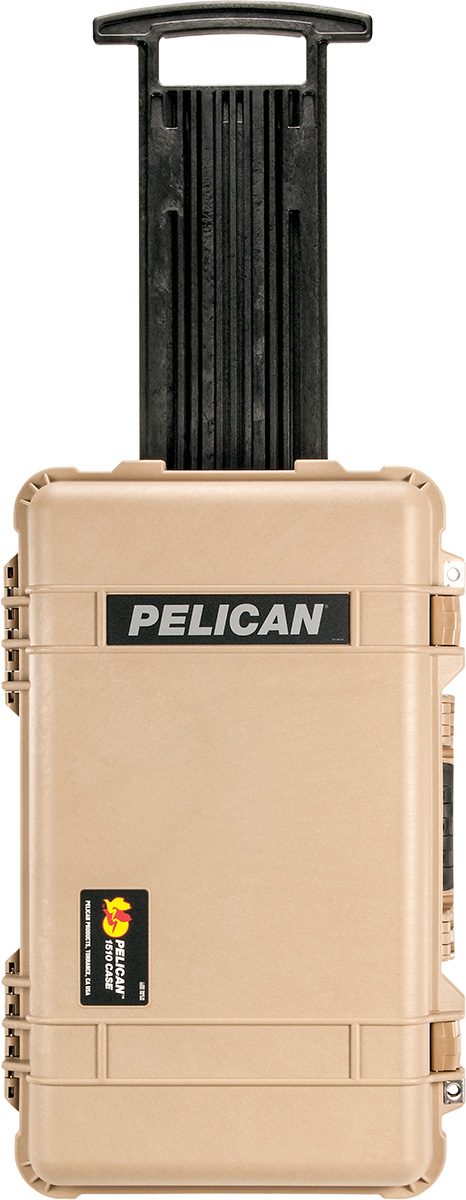 pelican 1510 tan carry on case rolling luggage