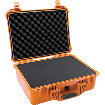 pelican 1520 orange foam watertight case