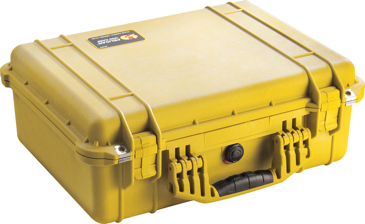 pelican 1520 yellow dustproof case