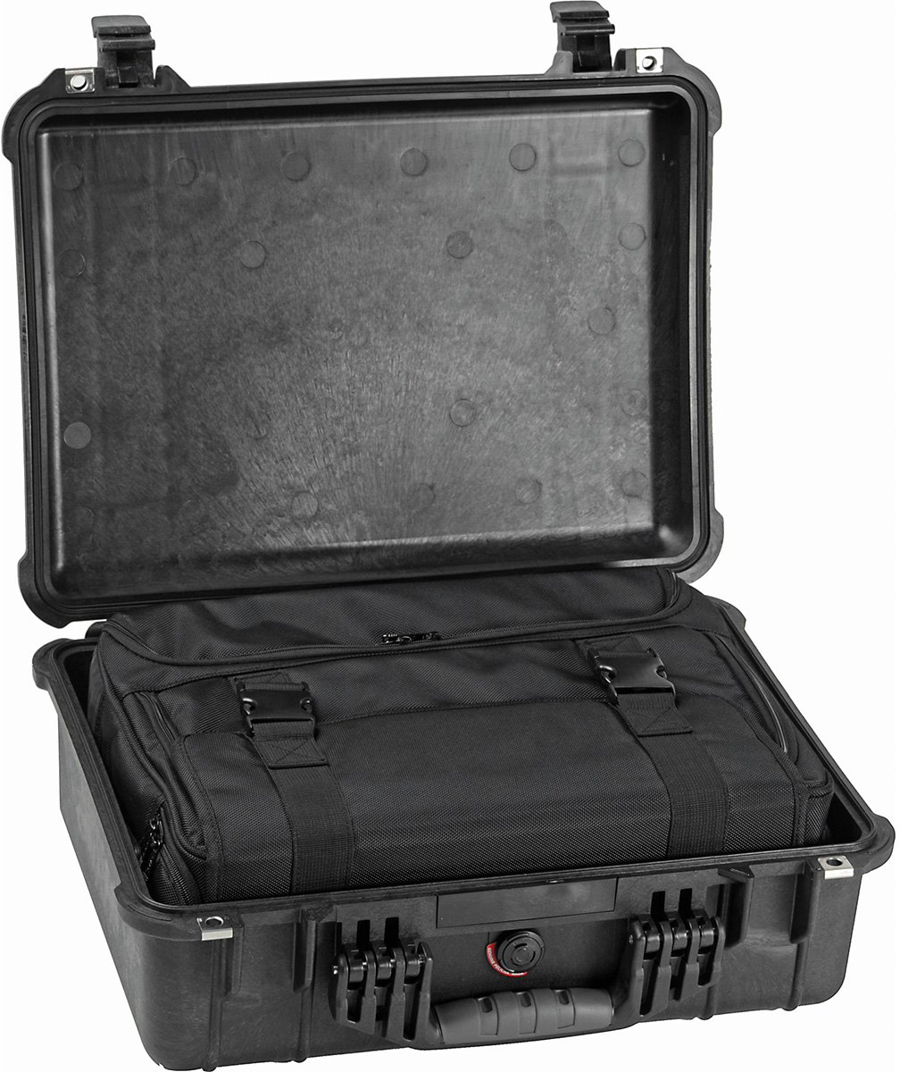 pelican 1520 1526 travel case with soft bag