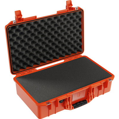 pelican 1525 air foam orange laptop case