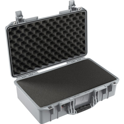 pelican 1525 air foam silver dslr camera case