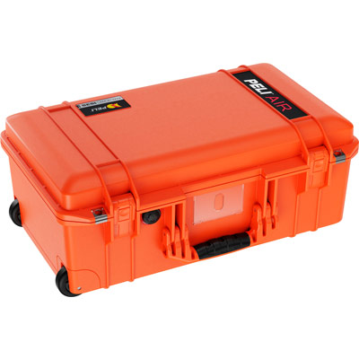 peli orange air case carry on cases