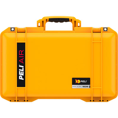 peli yellow air case color carry on case