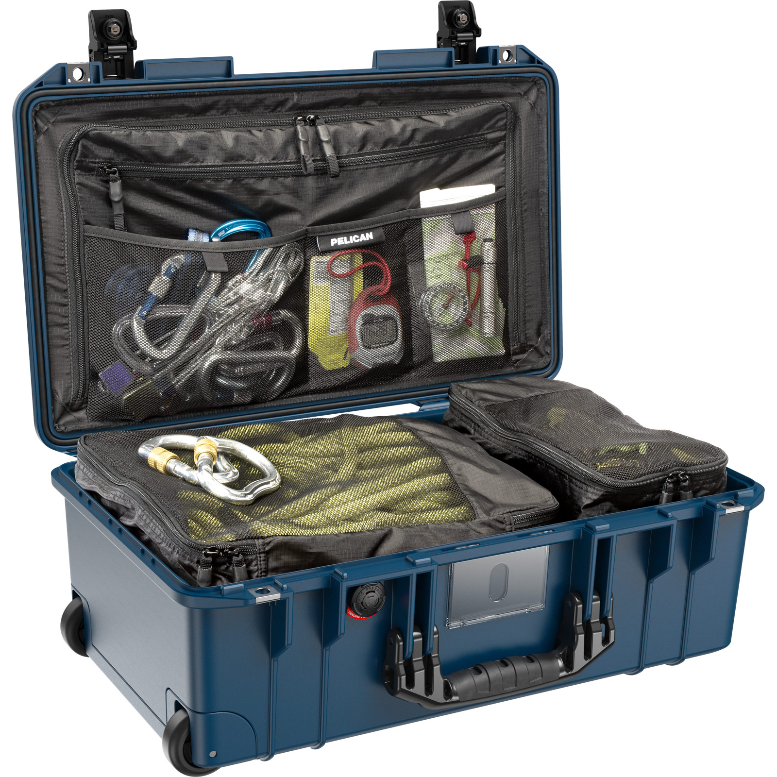 pelican 1535 air travel rolling case indigo