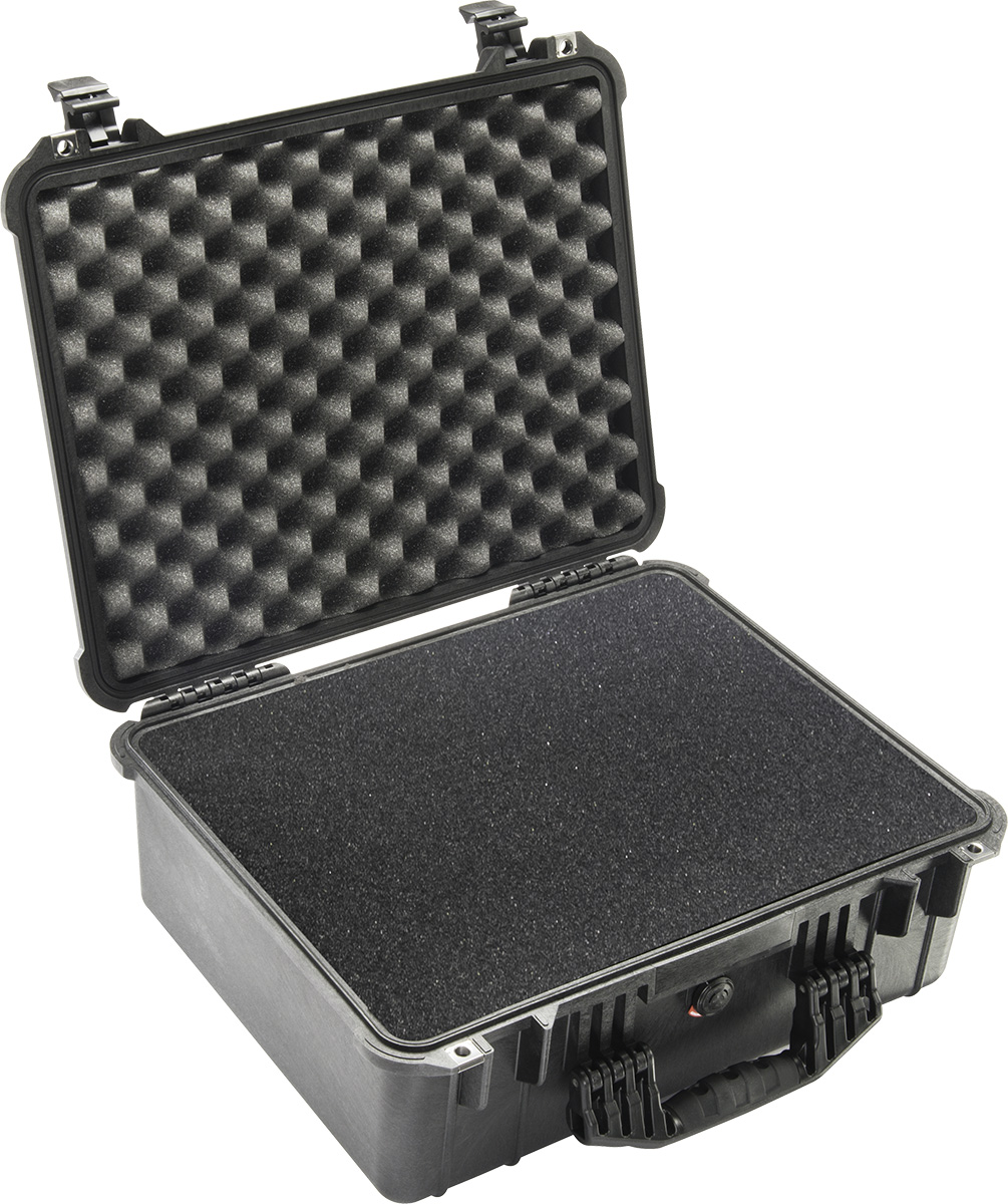 pelican 1550 black crushproof foam case