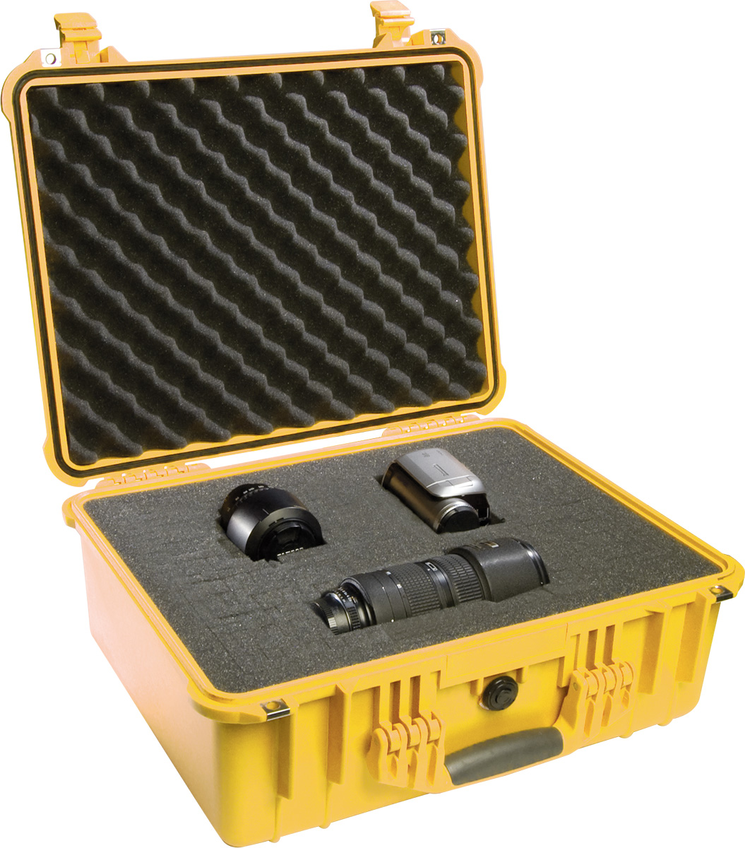pelican 1550 yellow watertight foam case