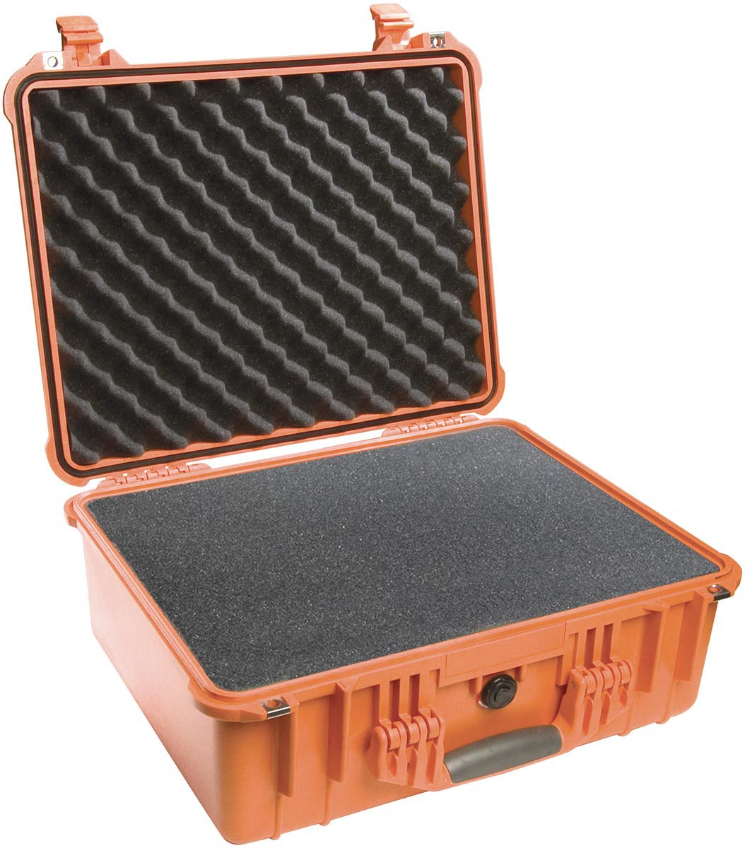 pelican 1550 orange hard waterproof rugged case