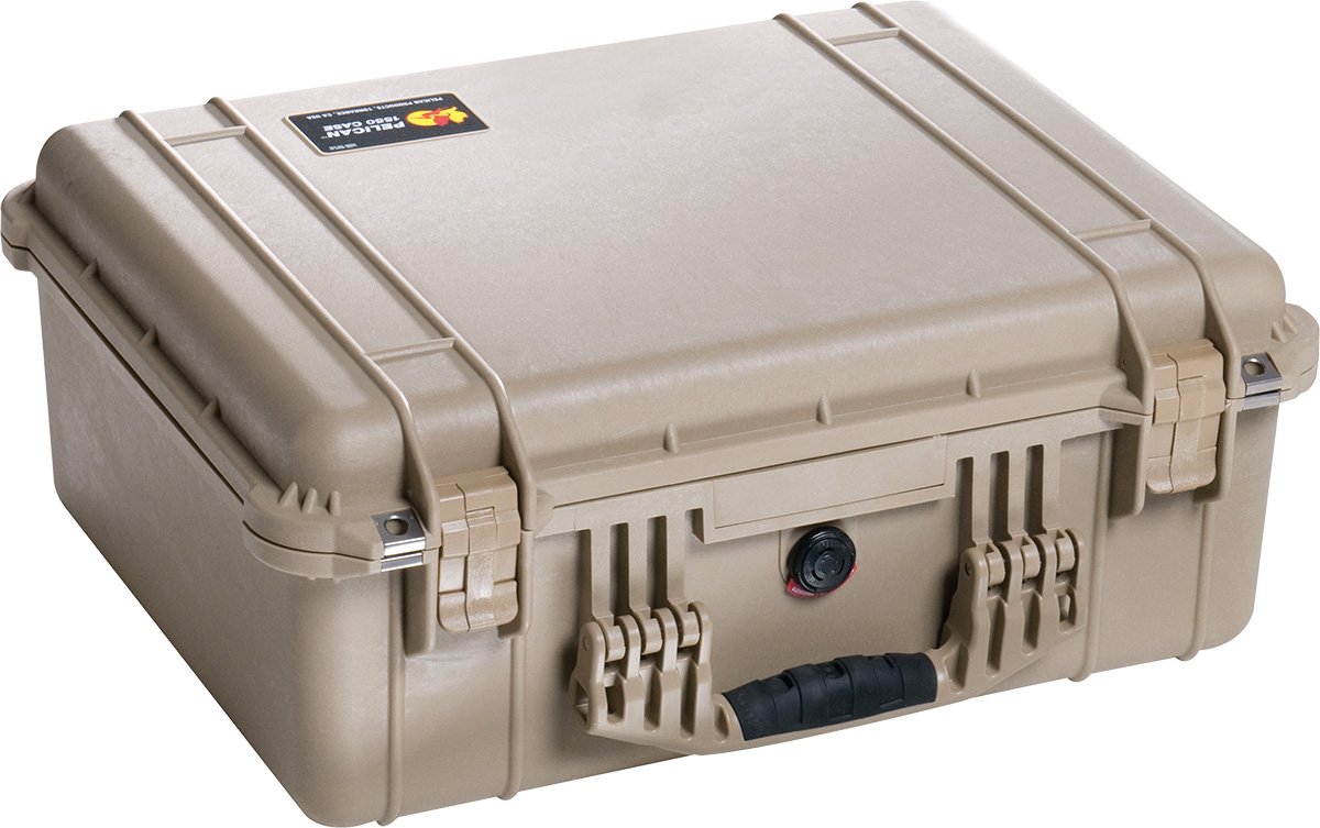 pelican 1550ems tan dustproof case