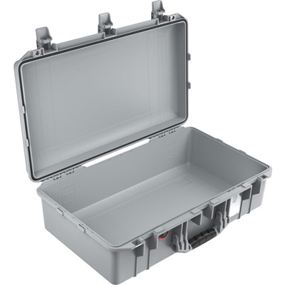 pelican air 1555 watertight silver photo case