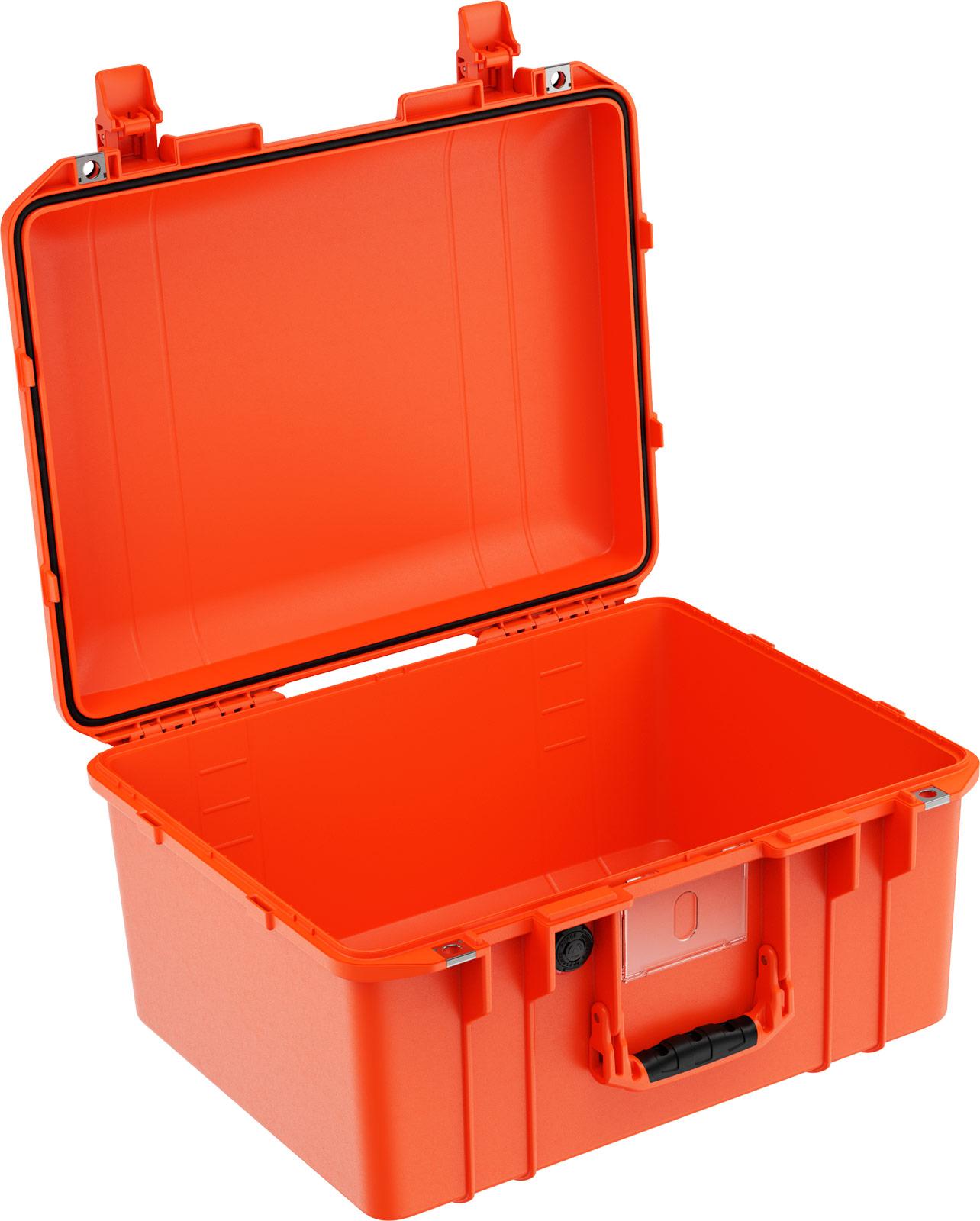 peli 1557 air orange no foam crushproof case