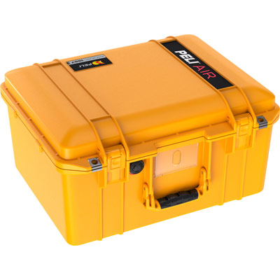 peli hard drone camera case yellow