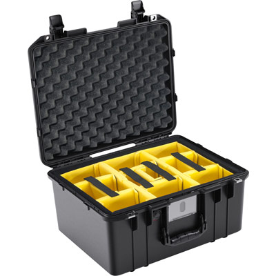 pelican air case padded dividers camera