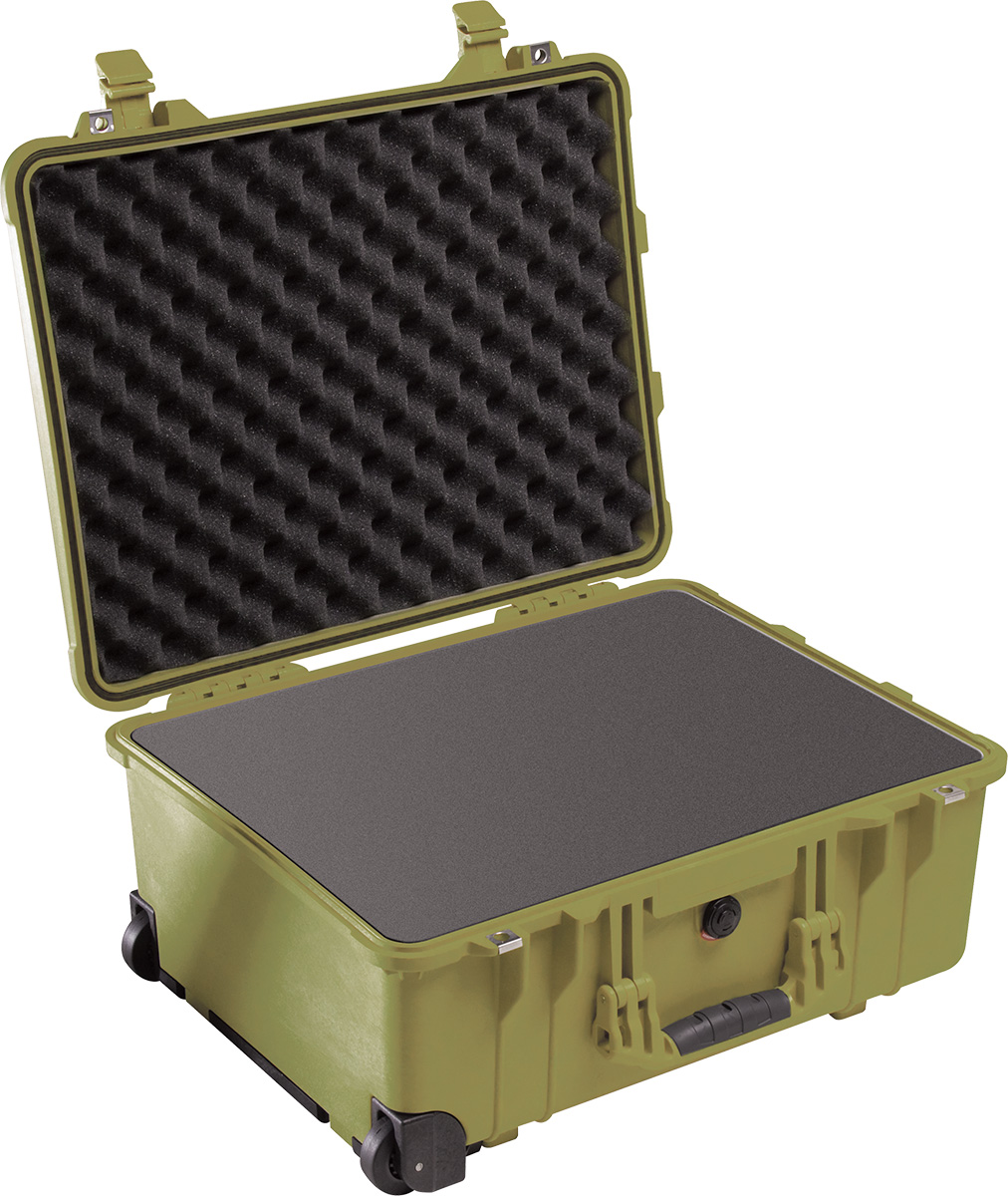 pelican 1560 green protector foam case