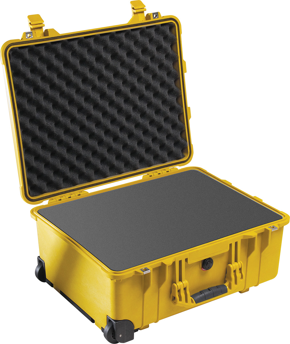 pelican 1560 yellow watertight foam case