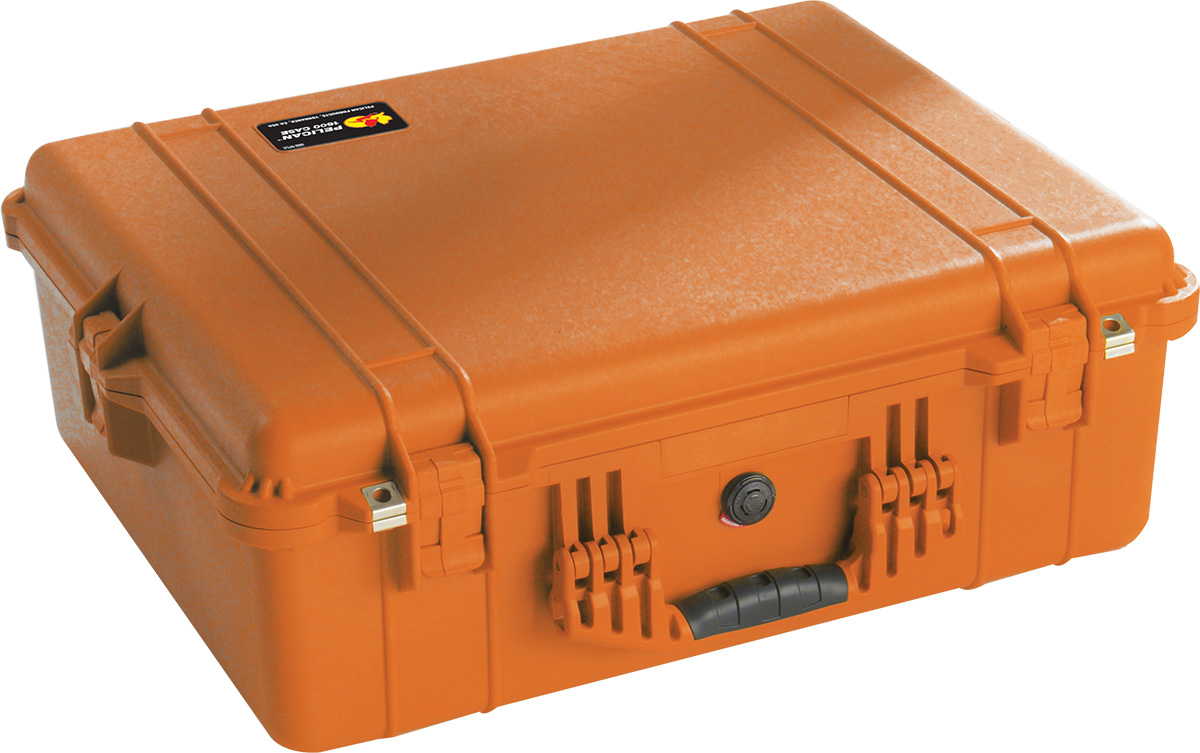 pelican 1600 orange protector case