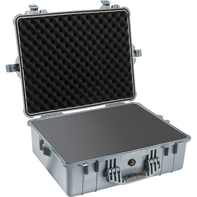 pelican 1600 silver foam dslr camera case