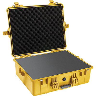 pelican 1600 yellow camera foam case