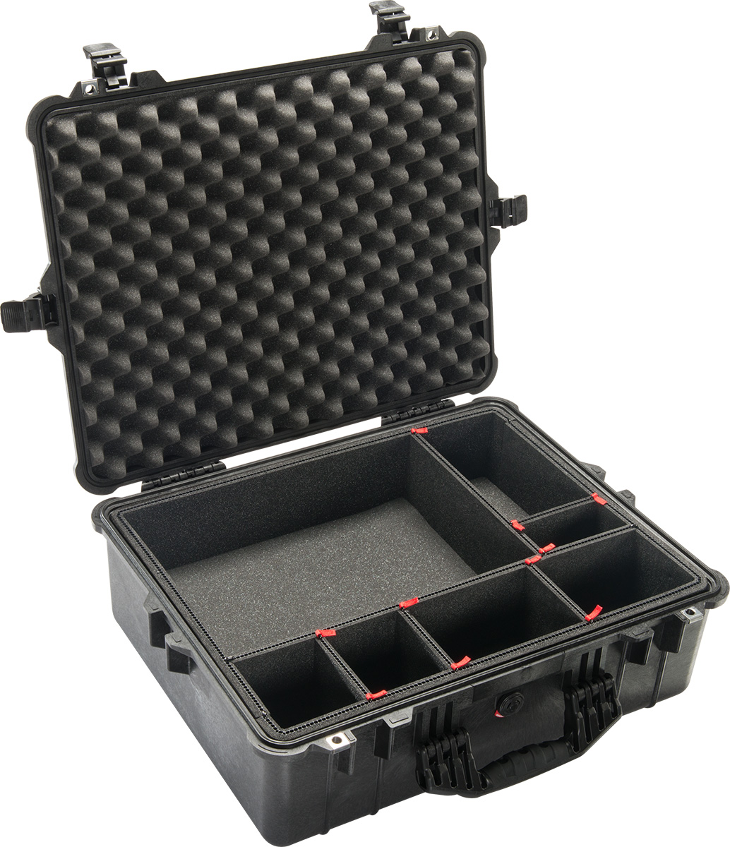 pelican 1600tp trekpak camera case divider system cases