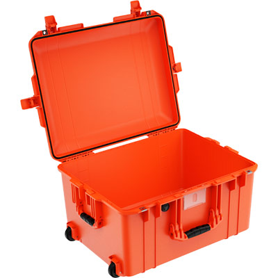 peli 1607 orange no foam watertight case