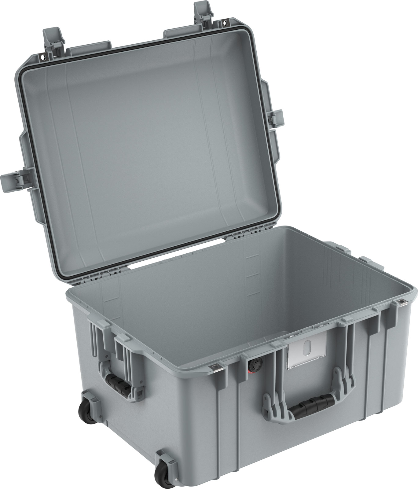 peli 1607 silver no foam air case