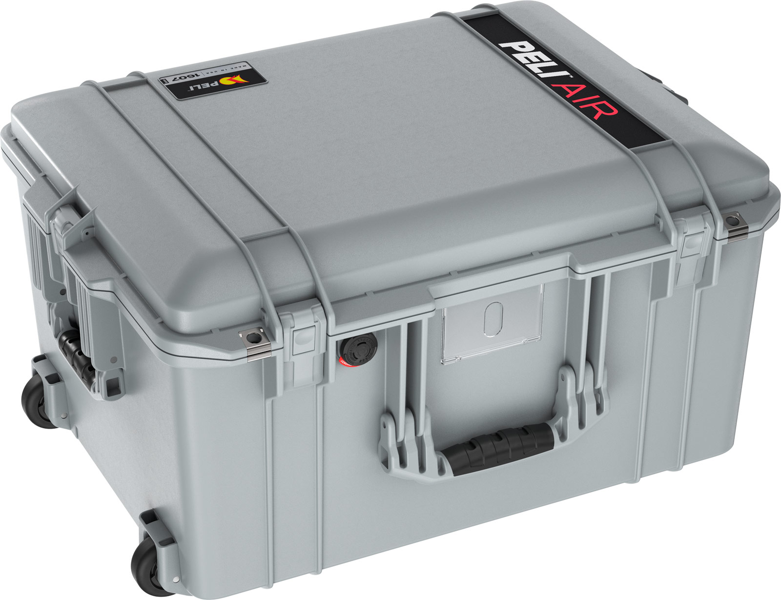 pelican 1607 air deep rolling case protection grey