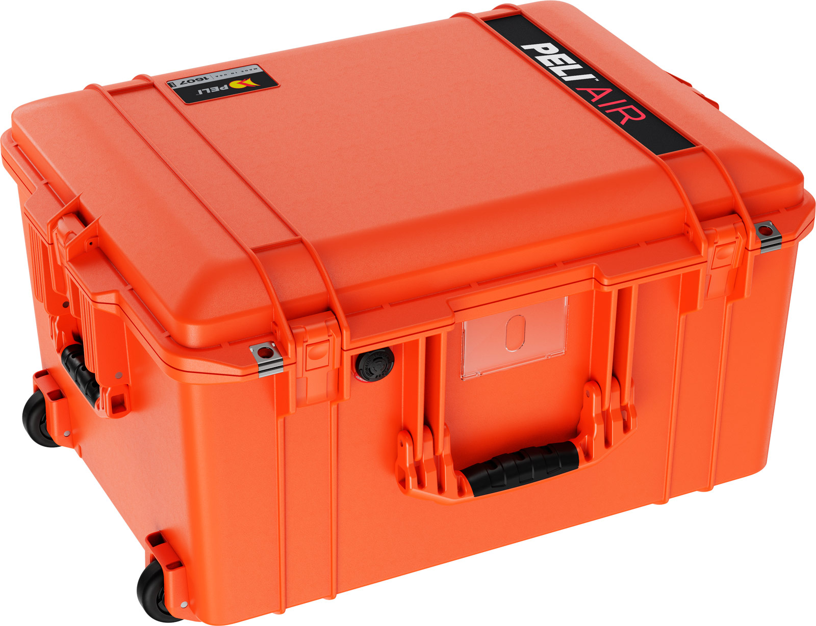 pelican 1607 air deep rolling case protection orange