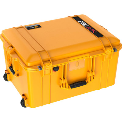 peli air deep rolling case protection yellow