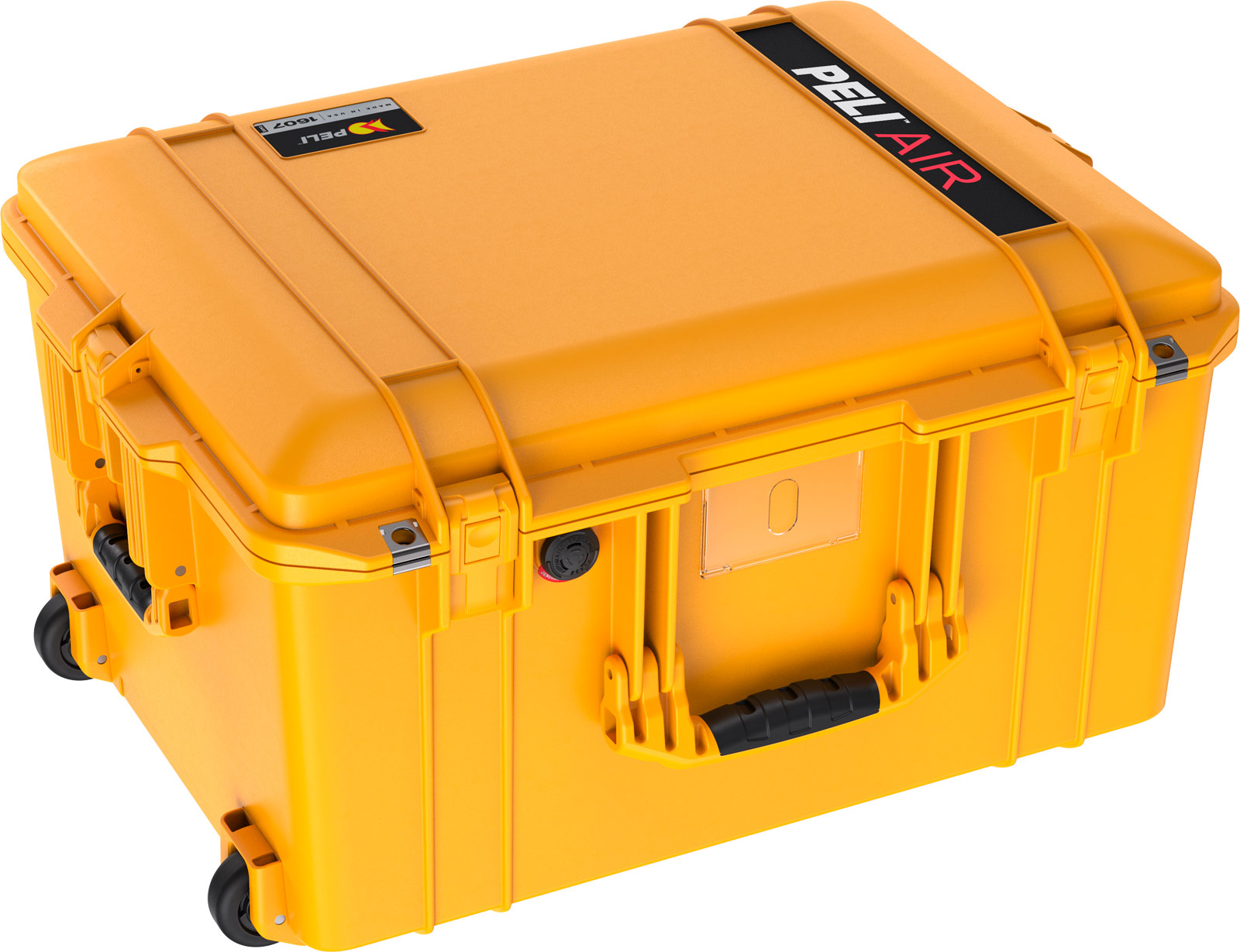 pelican 1607 air deep rolling case protection yellow