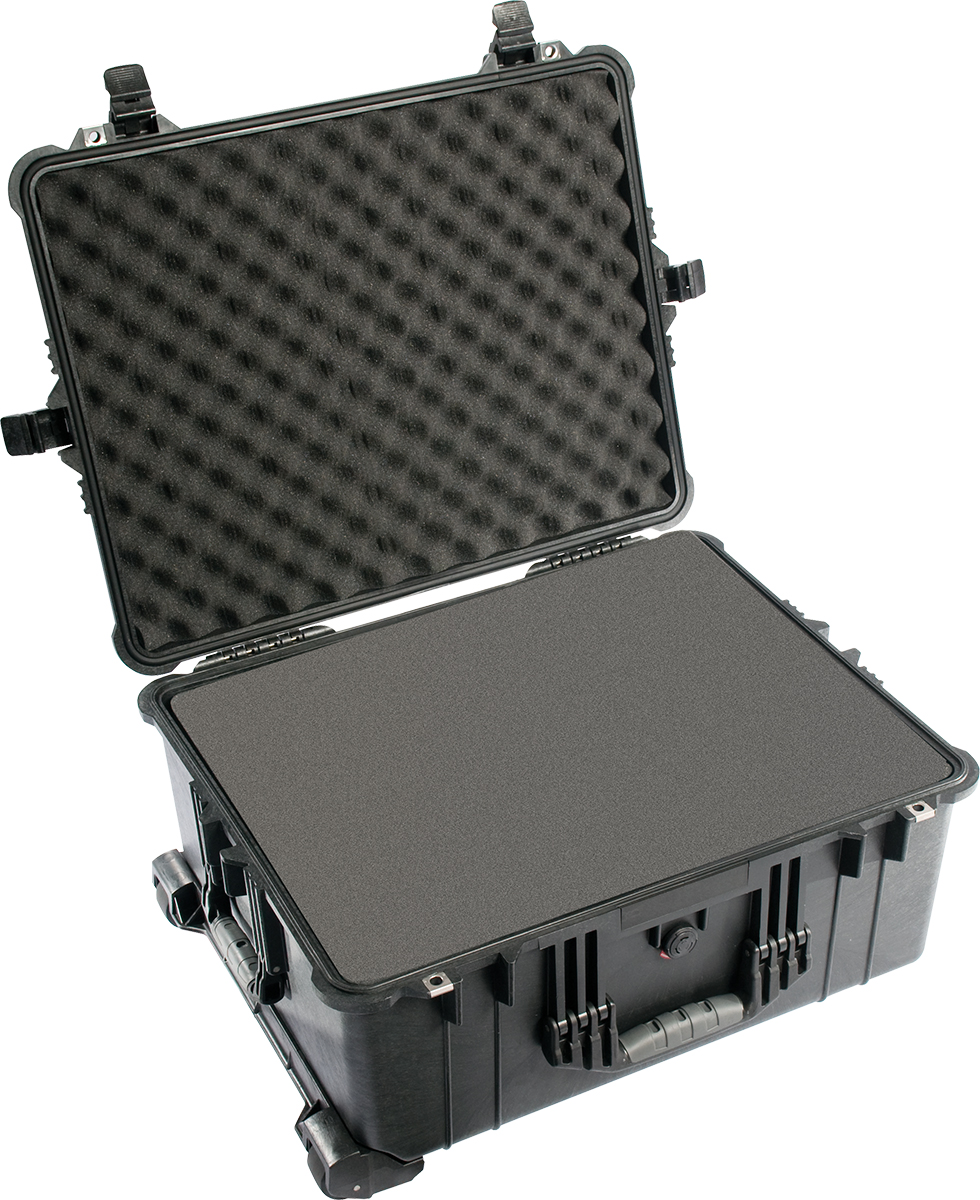 pelican 1610 black foam transportation case