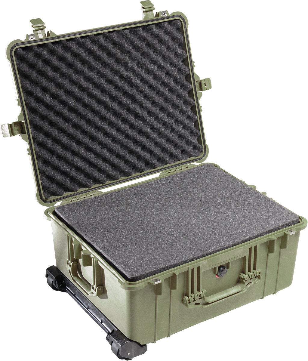 pelican 1610 green foam camera case