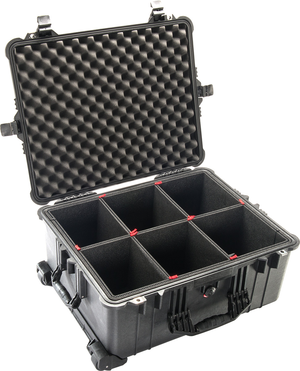 pelican 1610tp trekpack camera case divider system waterproof cases