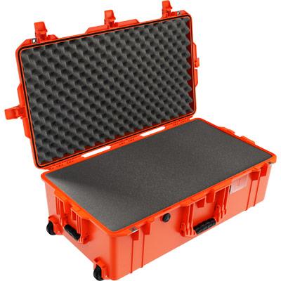 peli 1615 air orange foam tsa airline case