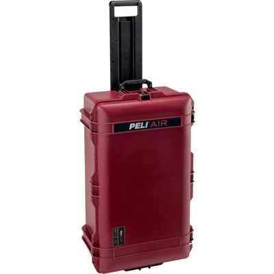 peli oxblood check in travel case