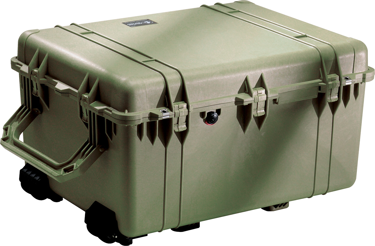 pelican 1630 green rolling protector case