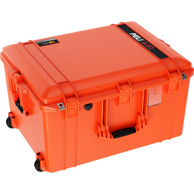 pelican 1637 air travel rolling large case orange