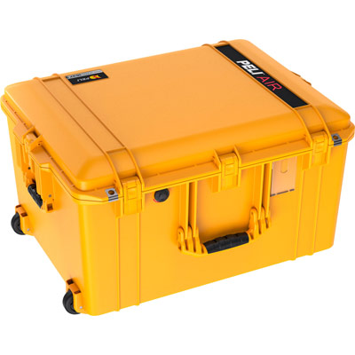 peli air travel rolling large case yellow