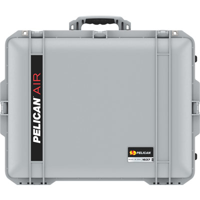 pelican 1637 air silver lightweight case