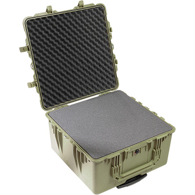 pelican 1640 protector green foam transport case
