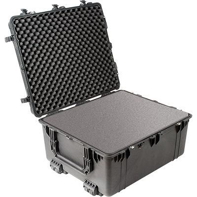 pelican 1690 foam black rolling case