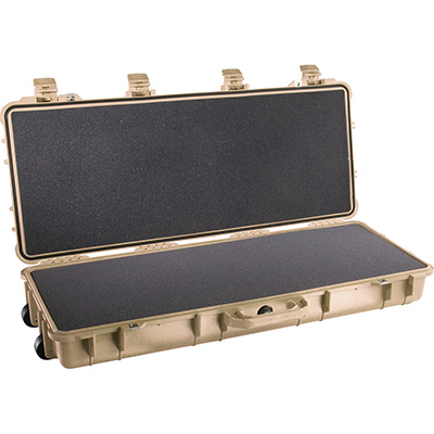 pelican 1700 tan storm rifle foam case