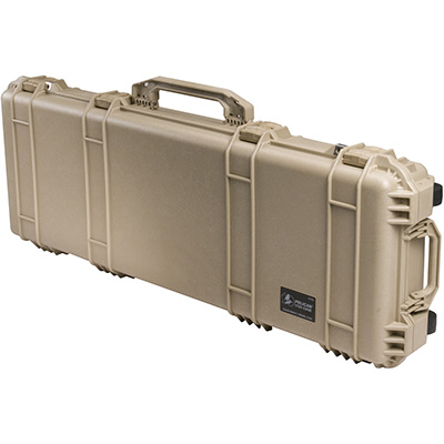 pelican desert tan usa made military rifle case