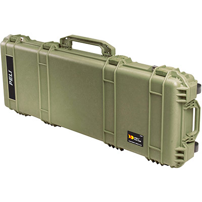 peli military green rifle ar15 card case
