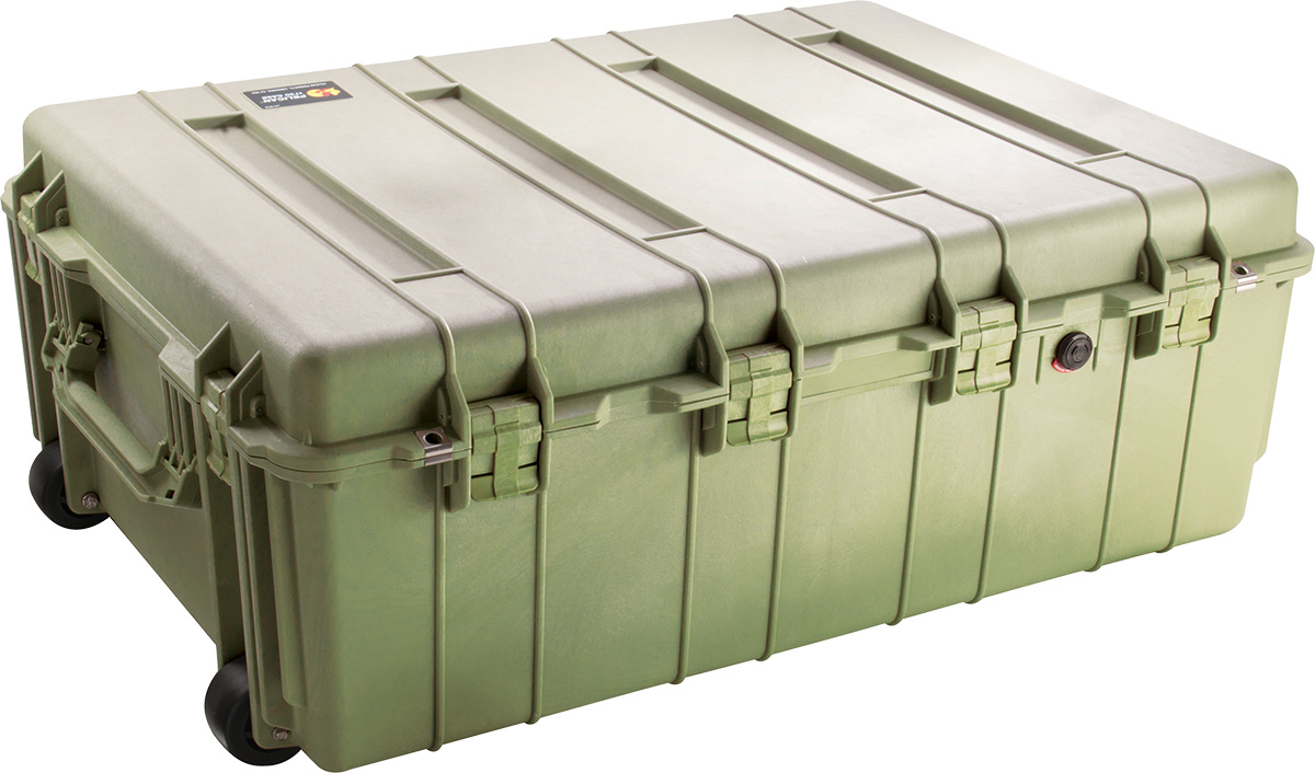 pelican 1730 green transportation wheeled case