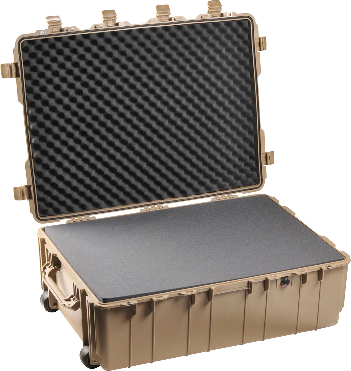 pelican 1730 tan large wheeled transport case